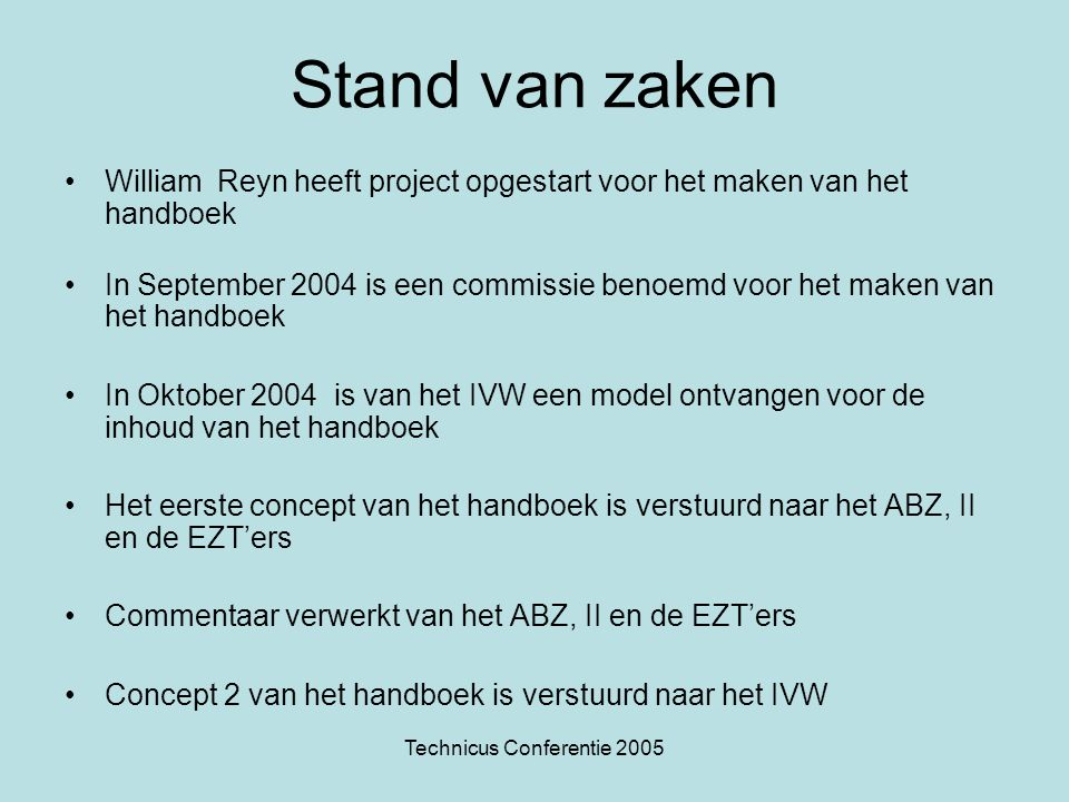 Technicus Conferentie 2005