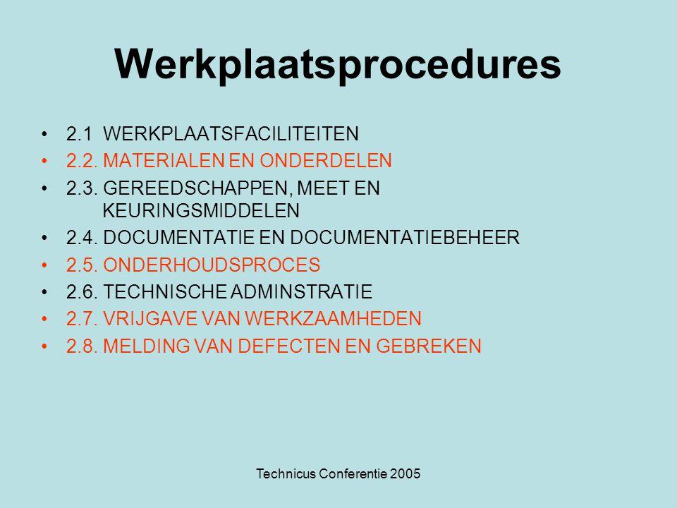 Werkplaatsprocedures