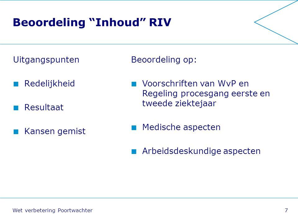 Beoordeling Inhoud RIV