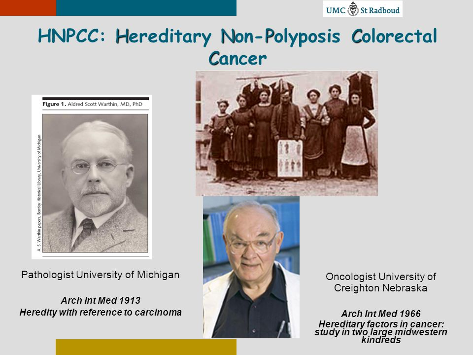 HNPCC: Hereditary Non-Polyposis Colorectal Cancer