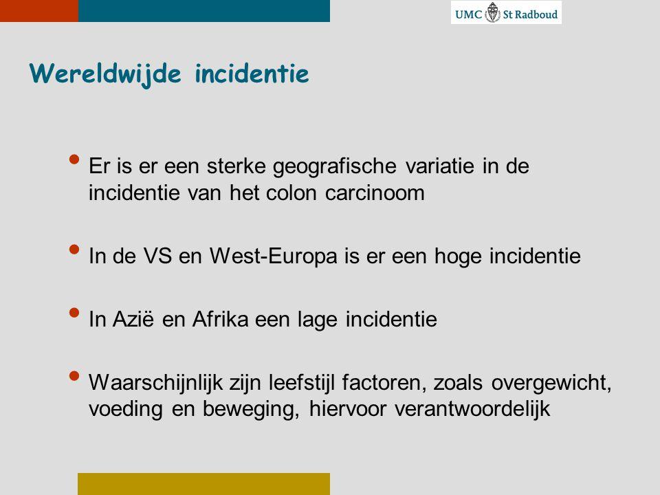Wereldwijde incidentie