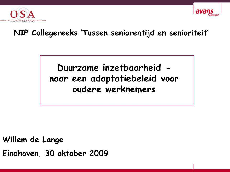 NIP Collegereeks 'Tussen seniorentijd en senioriteit'