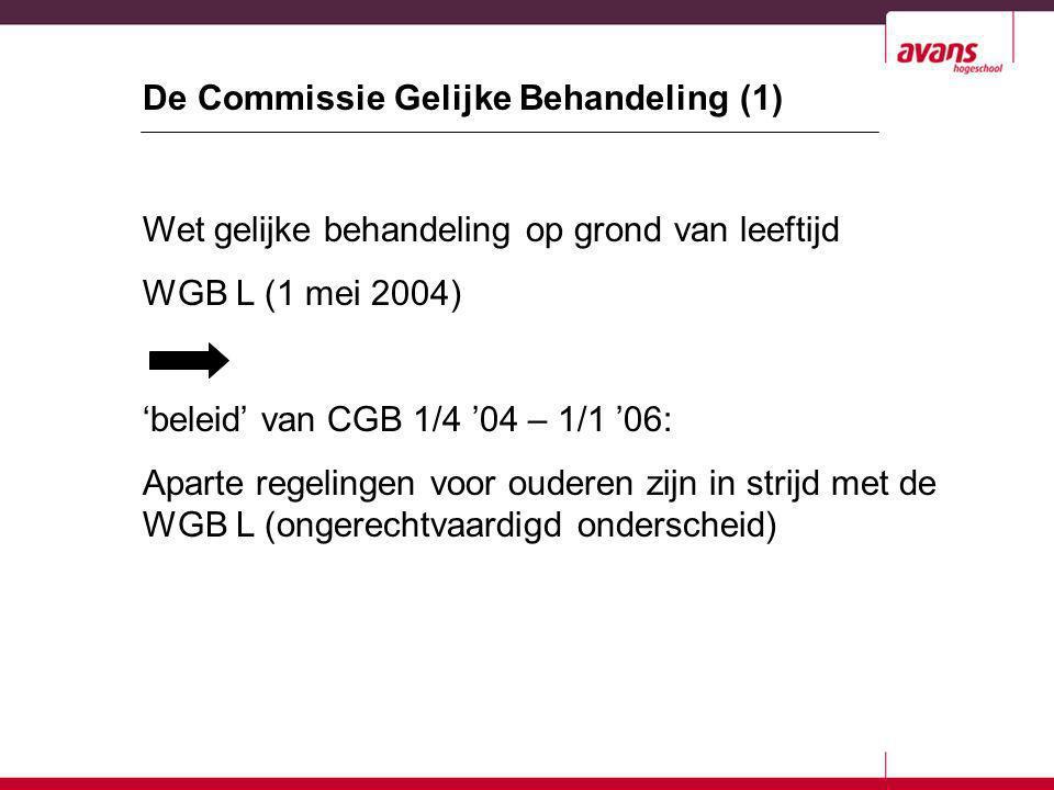 De Commissie Gelijke Behandeling (1)
