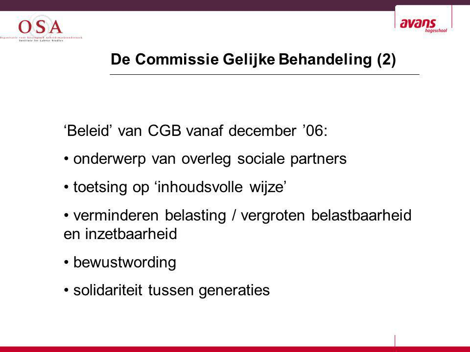De Commissie Gelijke Behandeling (2)