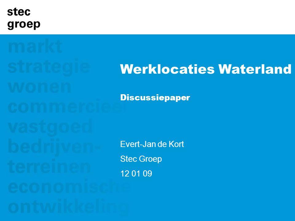 Werklocaties Waterland Discussiepaper