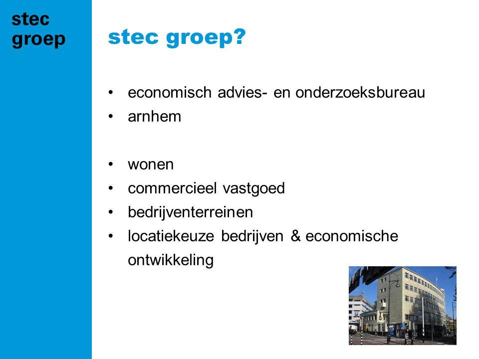 stec groep economisch advies- en onderzoeksbureau arnhem wonen