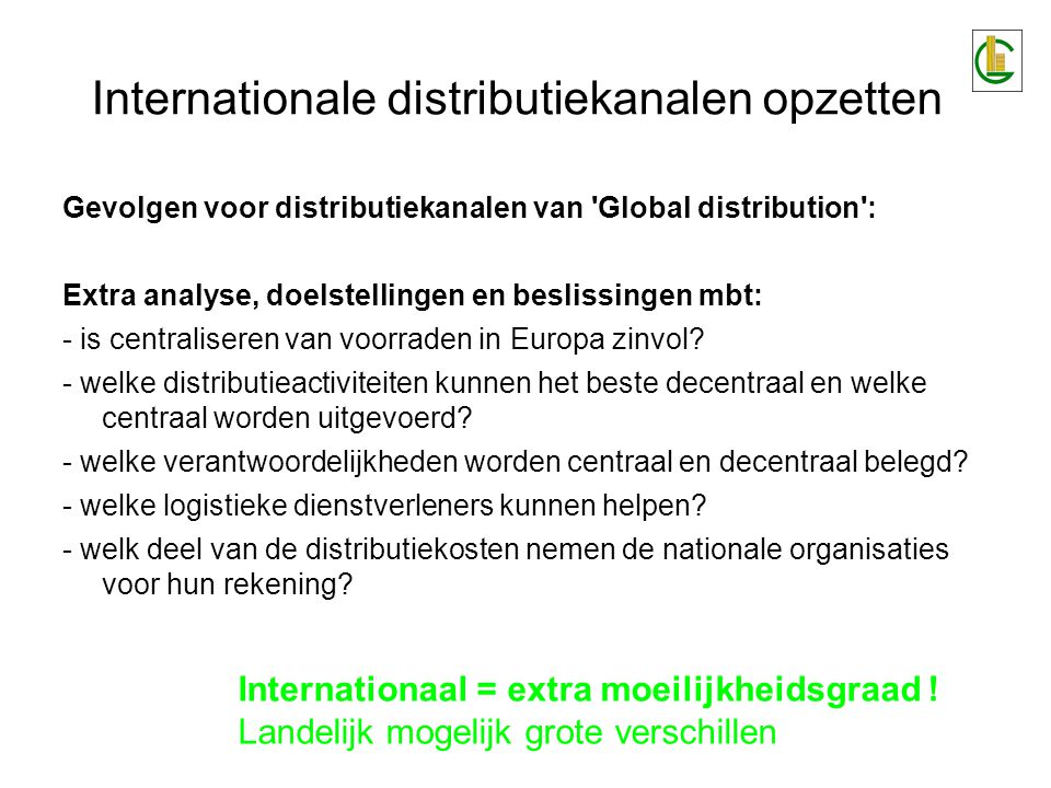 Internationale distributiekanalen opzetten