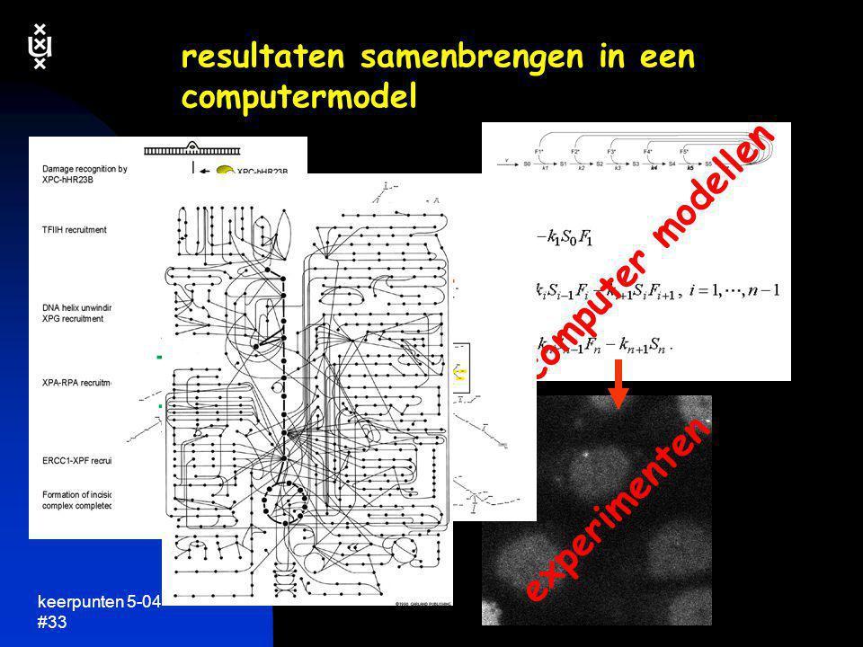 resultaten samenbrengen in een computermodel