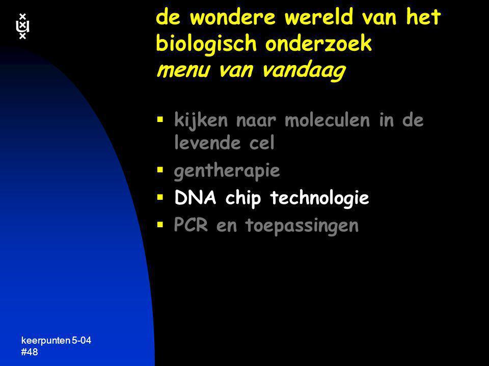 de wondere wereld van het biologisch onderzoek menu van vandaag