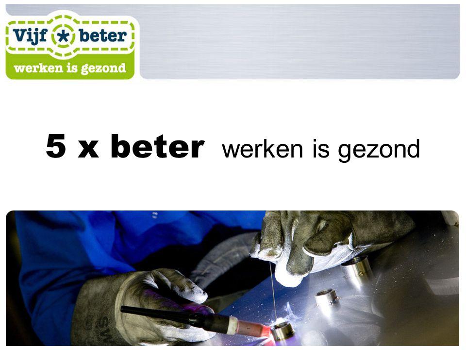 5 x beter werken is gezond