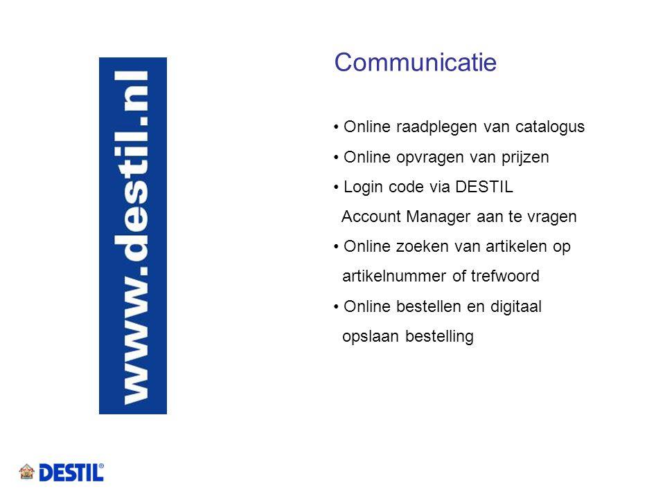 Communicatie Online raadplegen van catalogus