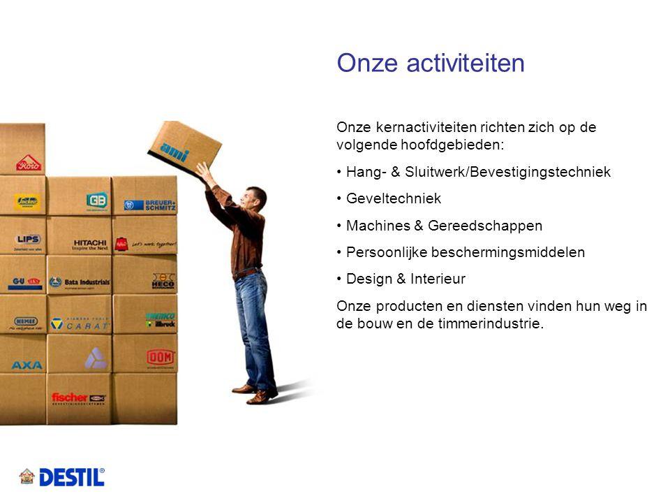 Onze activiteiten Onze kernactiviteiten richten zich op de volgende hoofdgebieden: Hang- & Sluitwerk/Bevestigingstechniek.