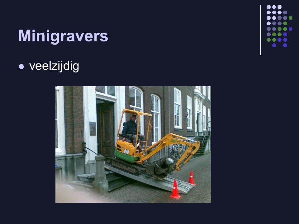 Minigravers veelzijdig