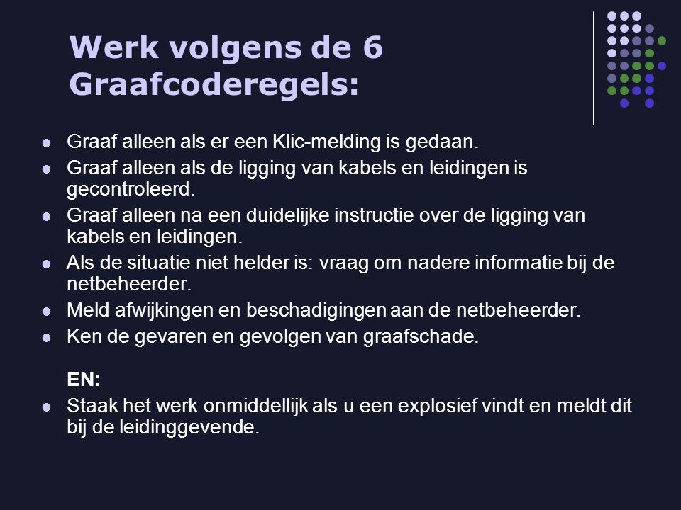 . Werk volgens de 6 Graafcoderegels: