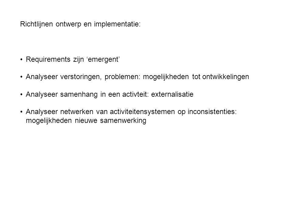 Richtlijnen ontwerp en implementatie: