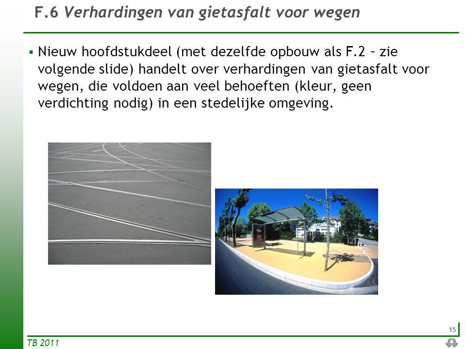 F.6 Verhardingen van gietasfalt voor wegen