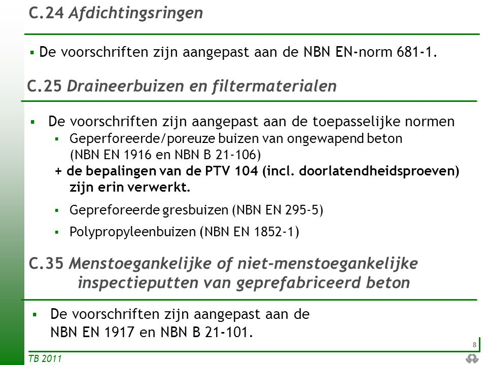 C.25 Draineerbuizen en filtermaterialen