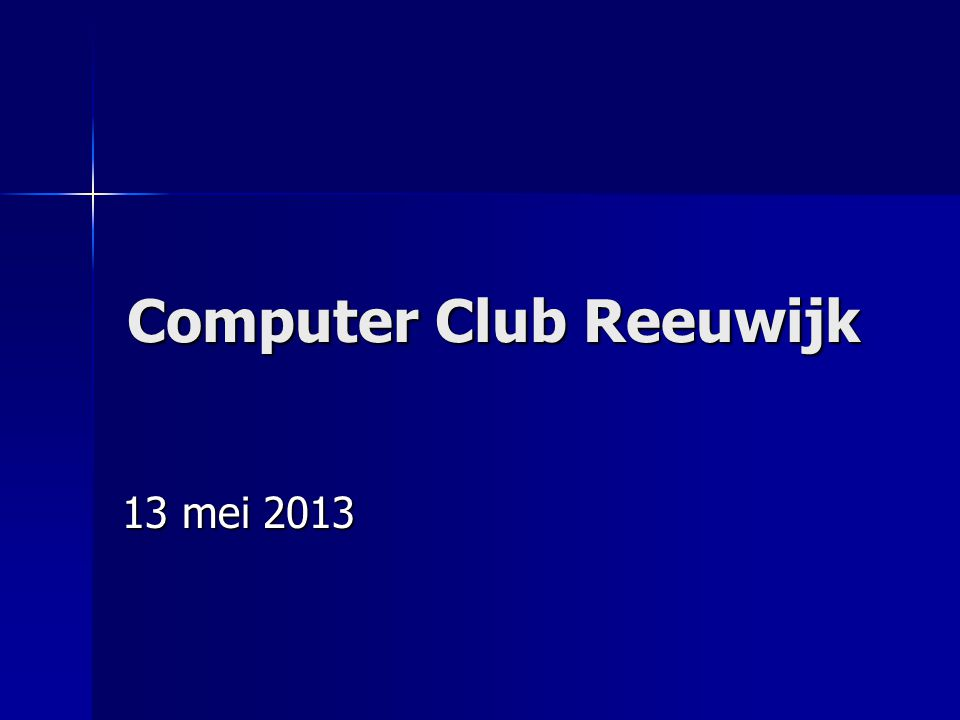 Computer Club Reeuwijk