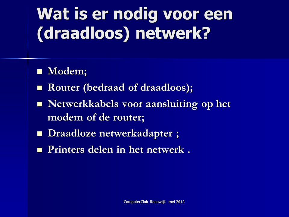 Wat is er nodig voor een (draadloos) netwerk