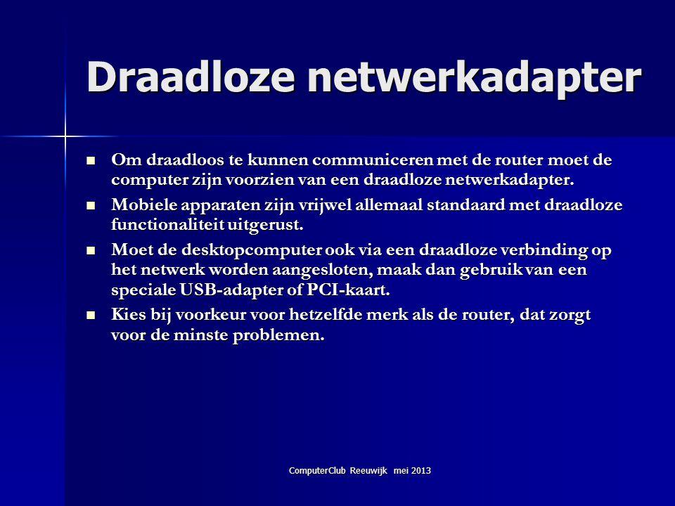 Draadloze netwerkadapter