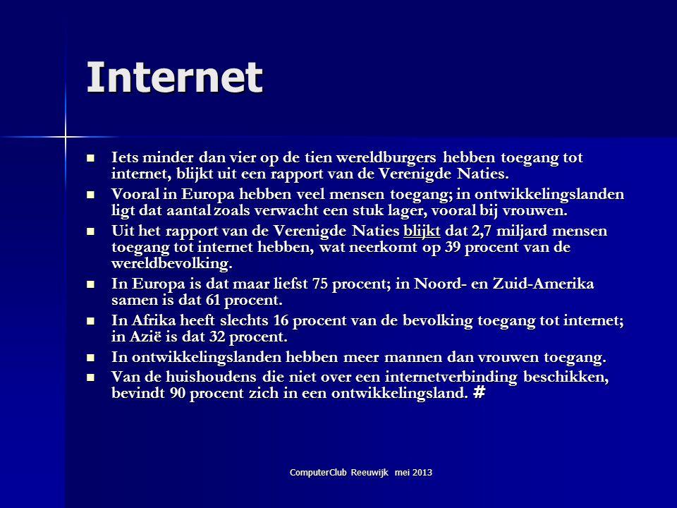 ComputerClub Reeuwijk mei 2013