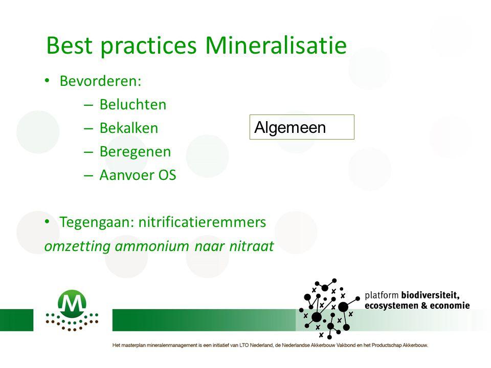 Best practices Mineralisatie