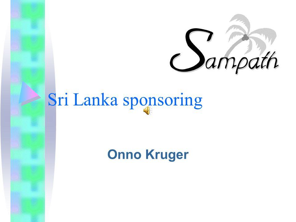 Sri Lanka sponsoring Onno Kruger