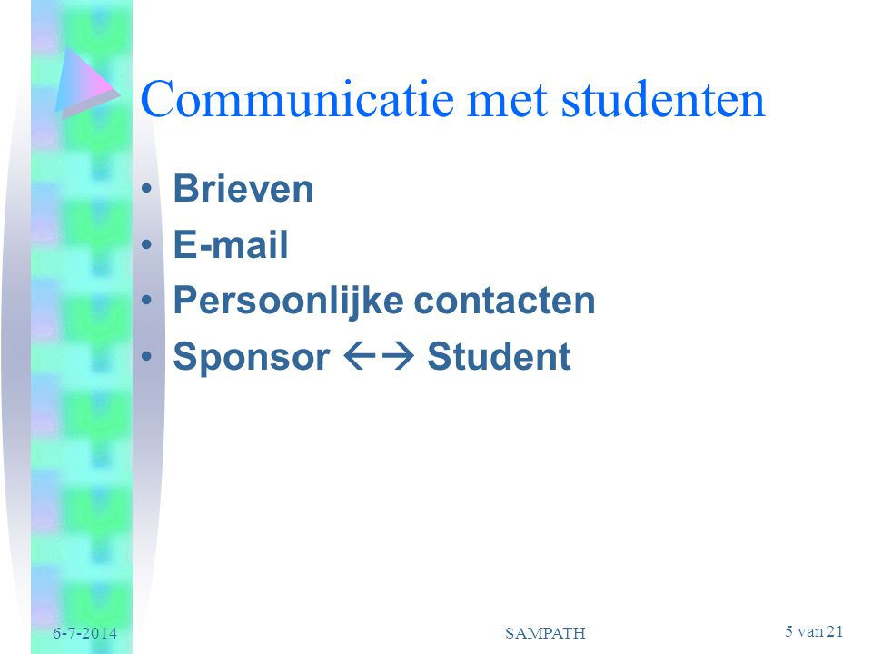 Communicatie met studenten