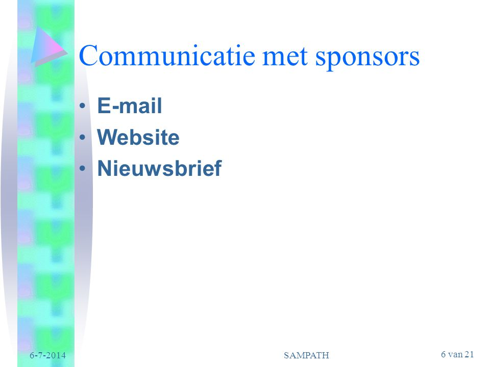 Communicatie met sponsors