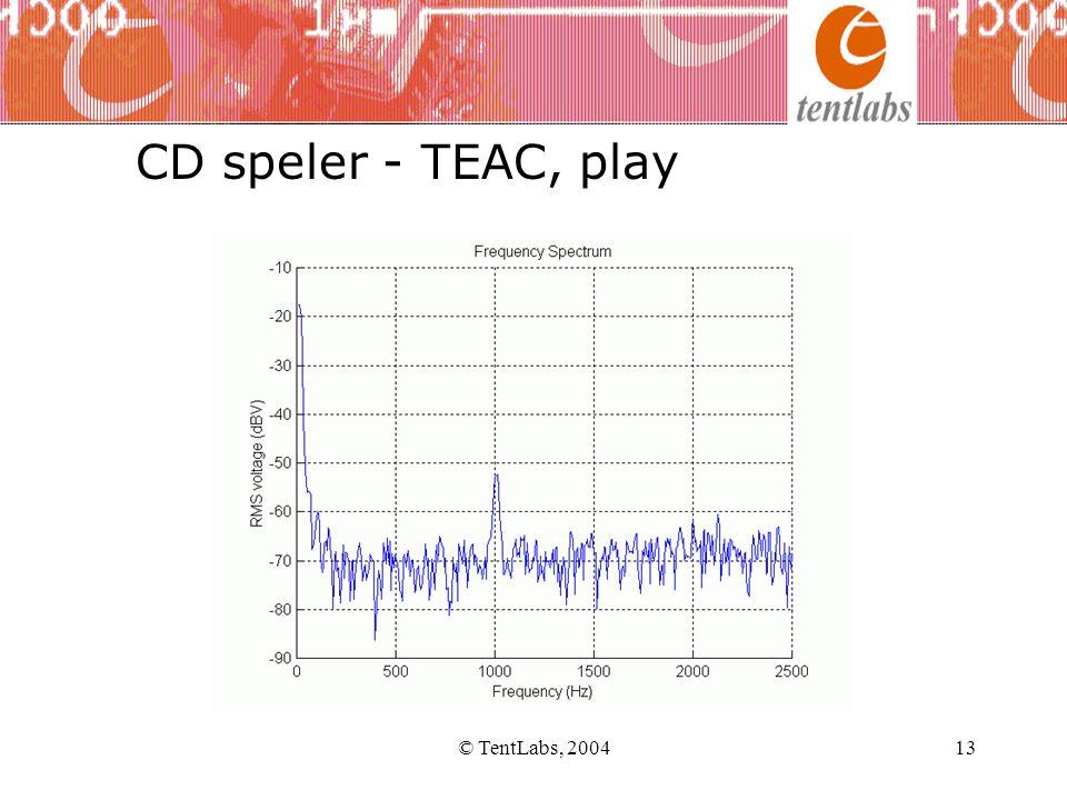 CD speler - TEAC, play © TentLabs, 2004 © TentLabs, 2004