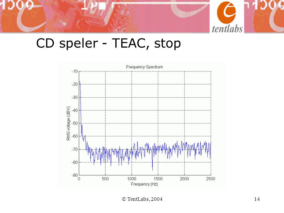 CD speler - TEAC, stop © TentLabs, 2004 © TentLabs, 2004