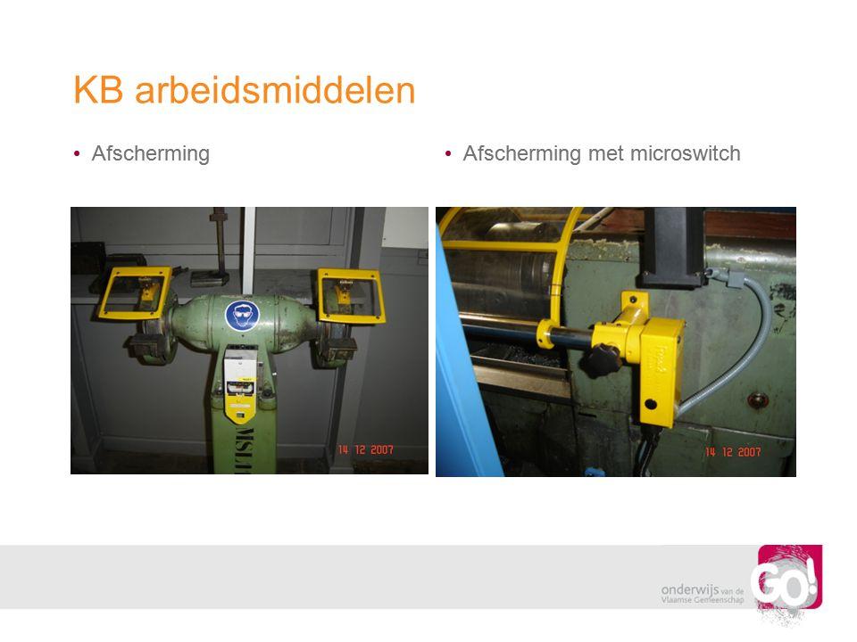KB arbeidsmiddelen Afscherming Afscherming met microswitch