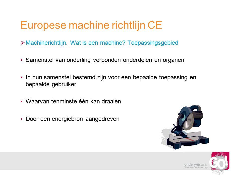 Europese machine richtlijn CE