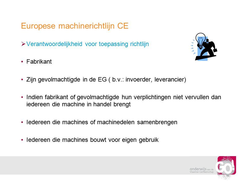 Europese machinerichtlijn CE