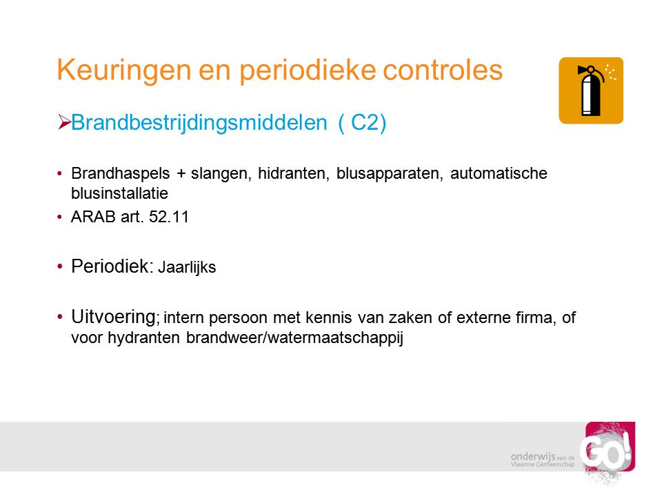 Keuringen en periodieke controles