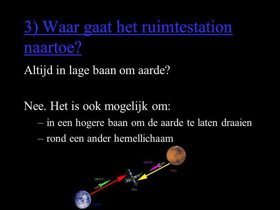 3) Waar gaat het ruimtestation naartoe
