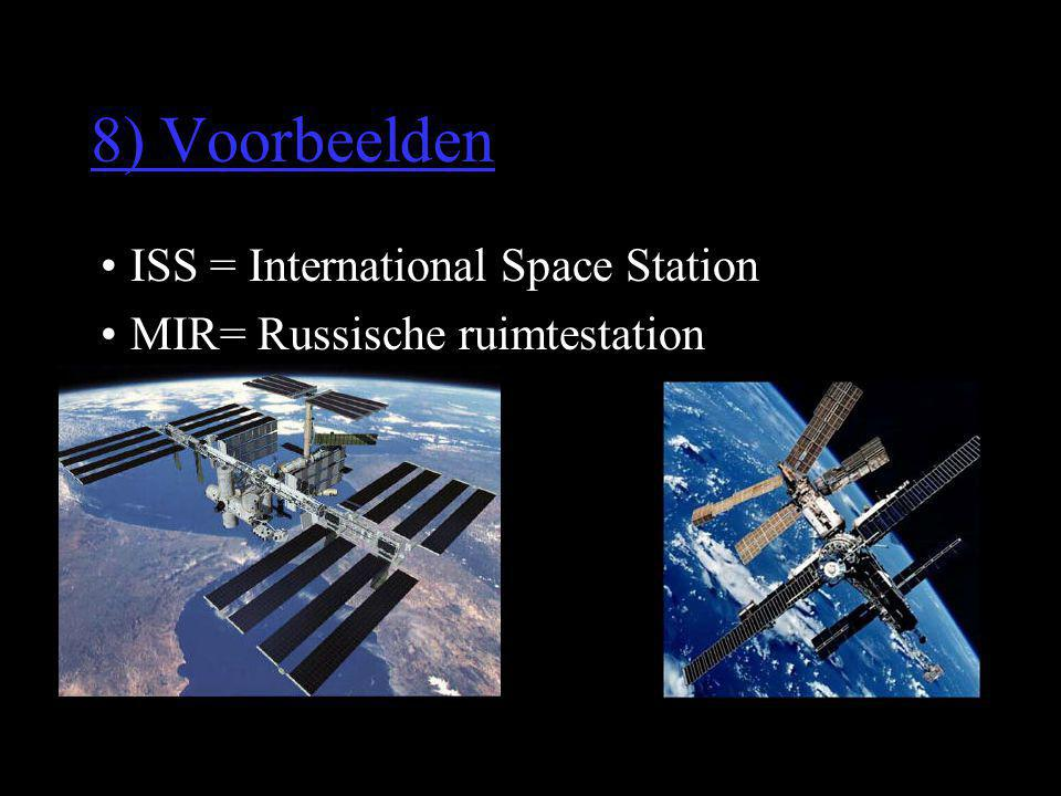 8) Voorbeelden ISS = International Space Station