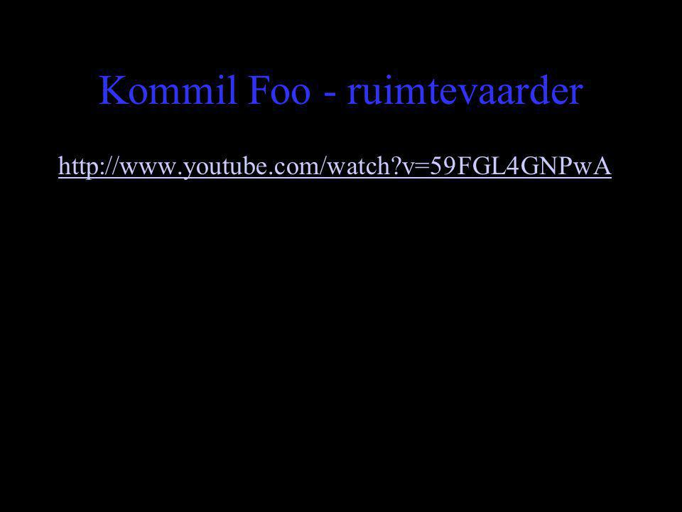 Kommil Foo - ruimtevaarder