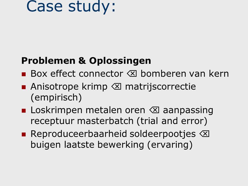 Case study: Problemen & Oplossingen