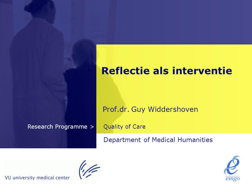 Reflectie als interventie