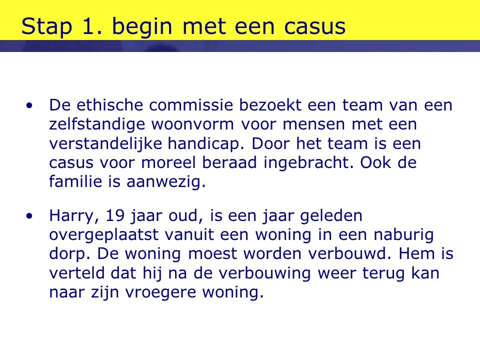 Stap 1. begin met een casus