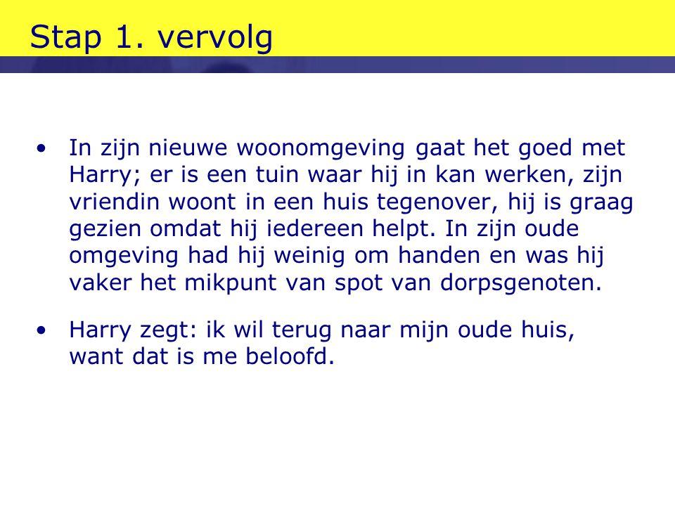 Stap 1. vervolg