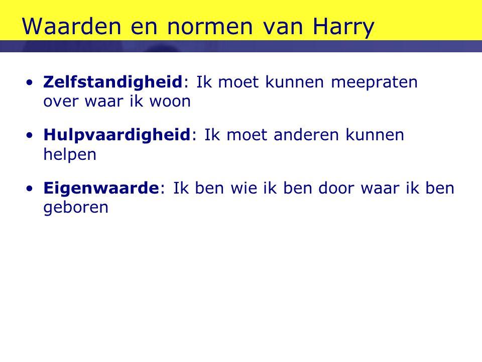 Waarden en normen van Harry
