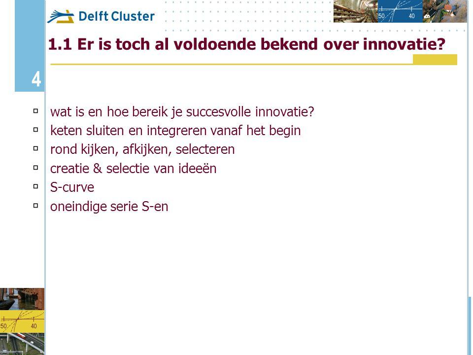 1.1 Er is toch al voldoende bekend over innovatie