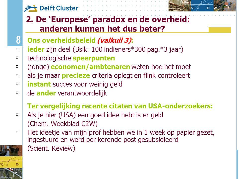 2. De 'Europese' paradox en de overheid: anderen kunnen het dus beter