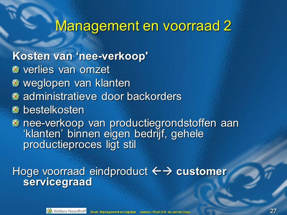Management en voorraad 2