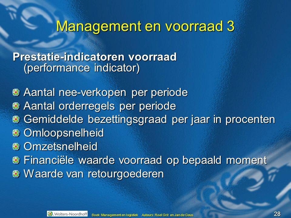 Management en voorraad 3