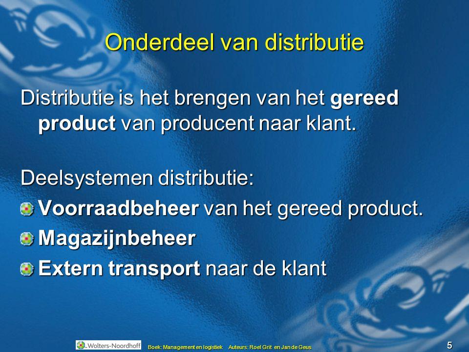 Onderdeel van distributie