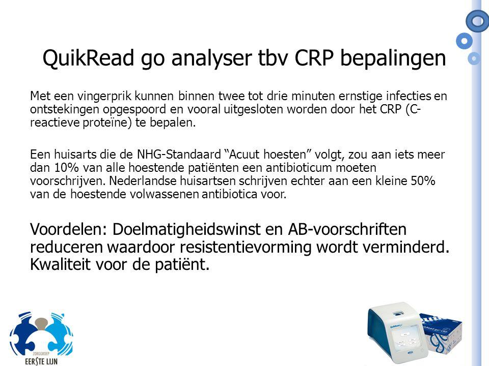 QuikRead go analyser tbv CRP bepalingen