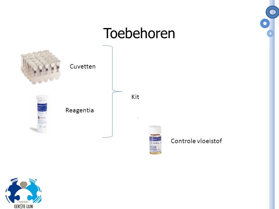Toebehoren Cuvetten Kit Reagentia Controle vloeistof